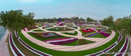 Парк цветов в Объединённых Арабских Эмиратах.