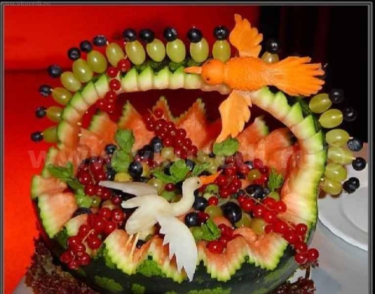 Салаты на стол из овощей и фруктов