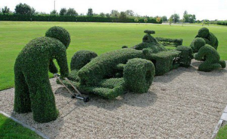 Классика садового дизайна - топиари.